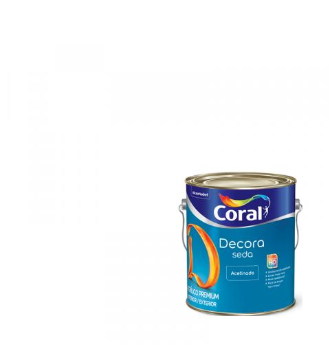 Tinta Acrílica Decora Acabamento De Seda Branco Acetinado 3.6L - Coral