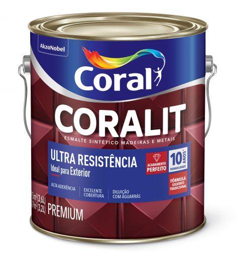 Esmalte Sintético Coralit Ultra Resist Fosco Branco 3.6L - Coral