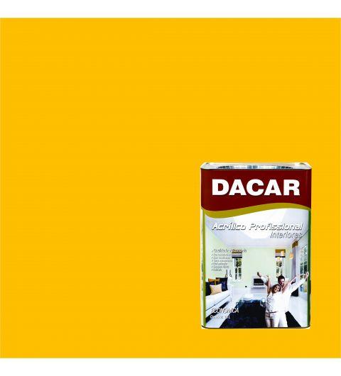 Dacar Profissional Acrilico Fosco Amarelo Ouro 18L