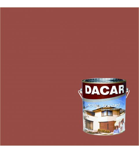 Dacar Acrilico Standard FoscoTomate Seco 3.6L