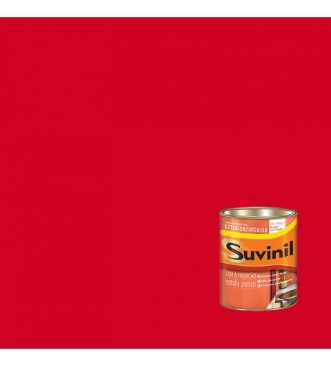 Suvinil Esmalte Sint Brilhante Vermelho 0.225L