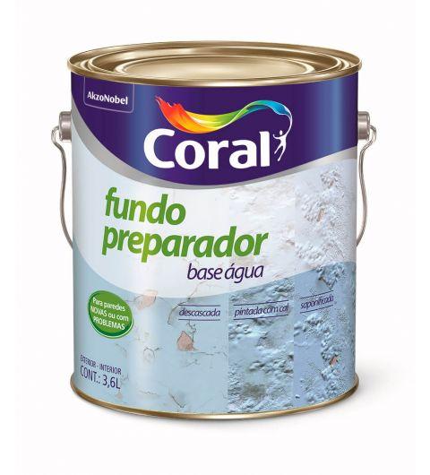 Fundo Preparador Base Agua Incolor 3.6L - Coral