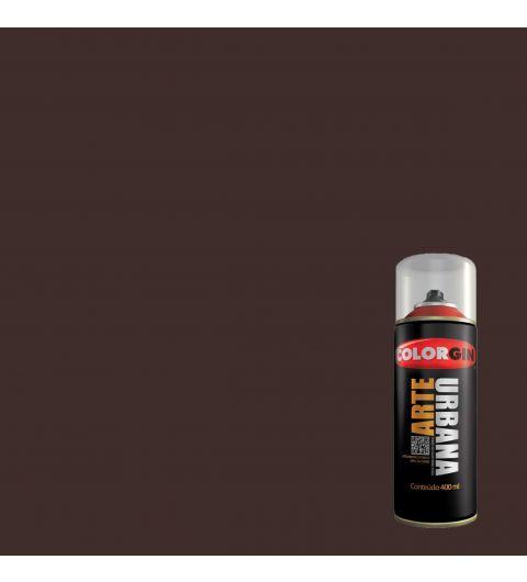 Tinta Spray Fosco Arte Urbana Marrom Cafe 400ml - Colorgin