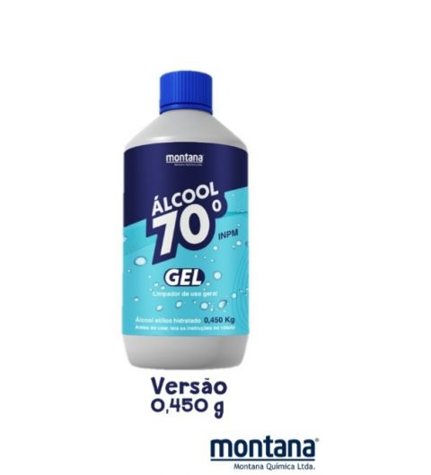 Álcool Gel 70 Limpeza tudo plim 450 G