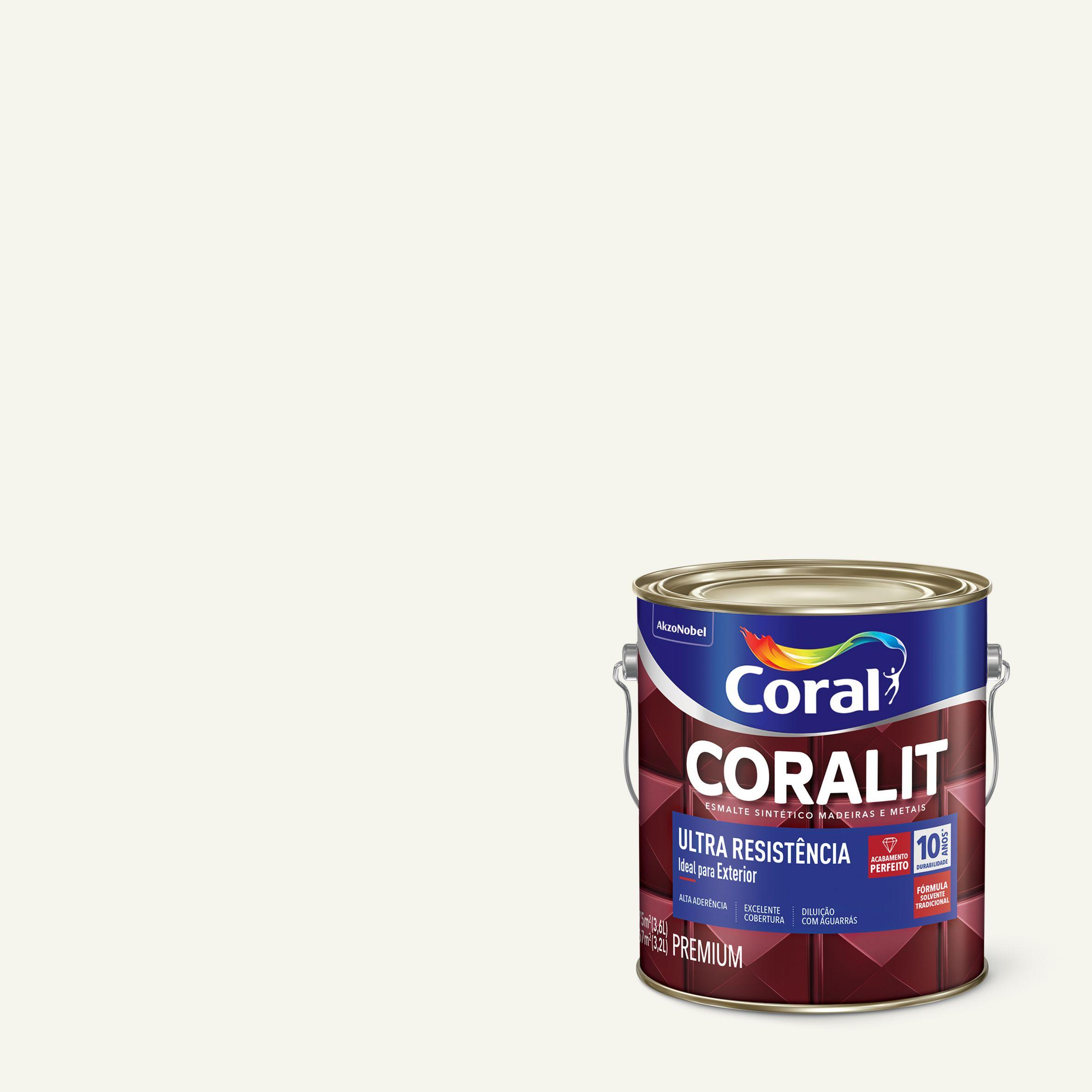 4d249c18548 Esmalte Sintético Coralit Ultra Resist Alto Brilho Transparente 3.6L - Coral