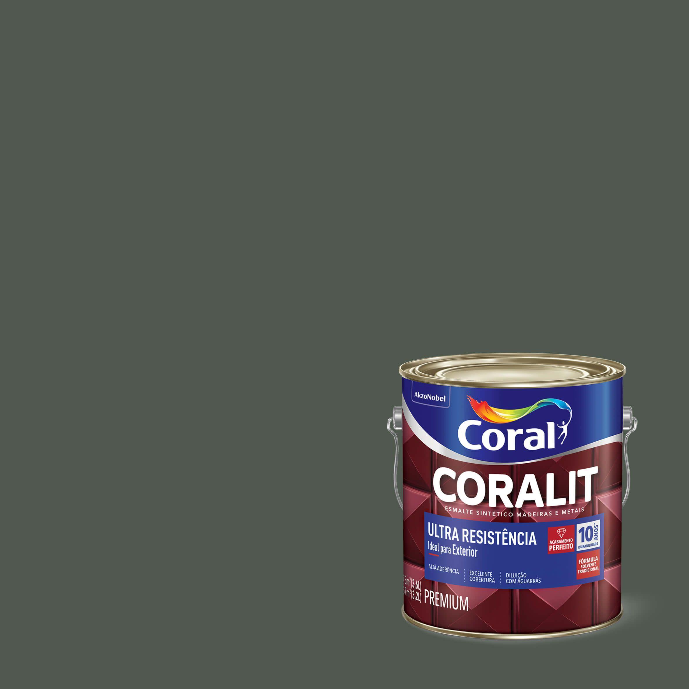 Esmalte Sintético Coralit Ultra Resist Fosco Verde Escolar