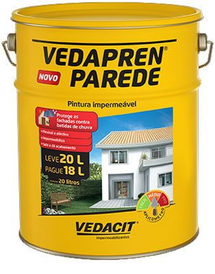 Tinta impermeabilizante vedapren parede branco novo 20lt - Impermeabilizante para paredes ...