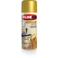 Tinta Spray Brilhante Metallik Ouro 300ml - Colorgin