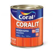 Esmalte Sintético Coralit Secagem Rápida Acetinado Branco 900ml - Coral