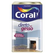 Tinta Para Gesso Branco 18L - Coral