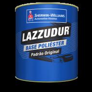 Tinta Poliéster Lazzudur Prata Geada Metalico 900ml - Lazzuril