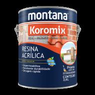 RESINA INCOLOR FOSCA 3,6L KOROMIX MONTANA