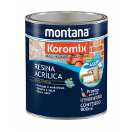 RESINA INCOLOR ÁGUA 900ML KOROMIX MONTANA