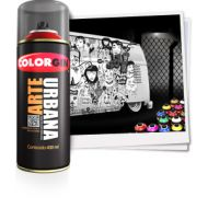Tinta Spray Fosco Arte Urbana Preto 400ml - Colorgin