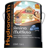 Resina Brilhante Multiuso Acqua Branca 3.6L - Hydronorth