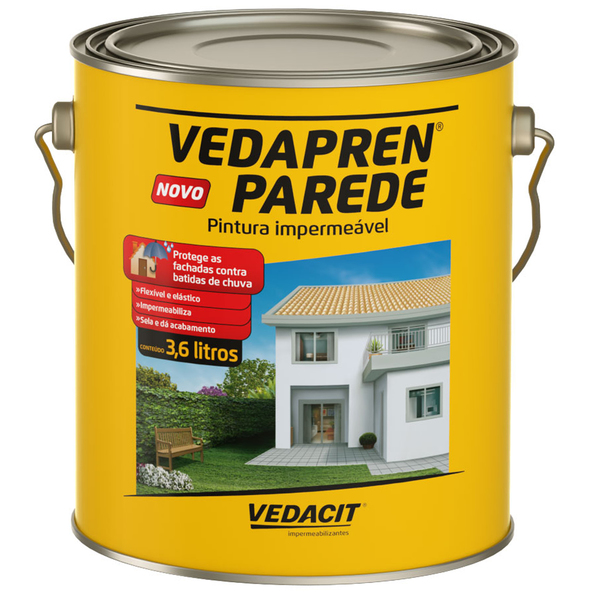 Vedapren branco 3 6l - Impermeabilizante para paredes ...